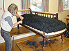 Recover of Edwardian Chaise